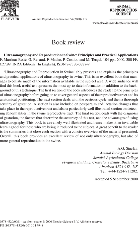 Ultrasonography and reproduction in swine principles and practical first page of article publicscrutiny Choice Image
